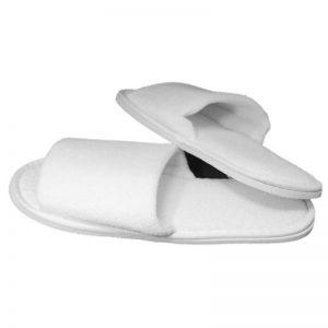 Badstof slippers kleur wit 1 maat