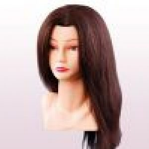 Oefenkop Ellen asia echt haar bruin 40 cm