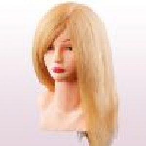 Oefenkop Louisa asia echthaar blond 40 cm