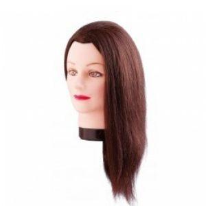 Oefenkop estelle asia echt haar bruin 50 cm