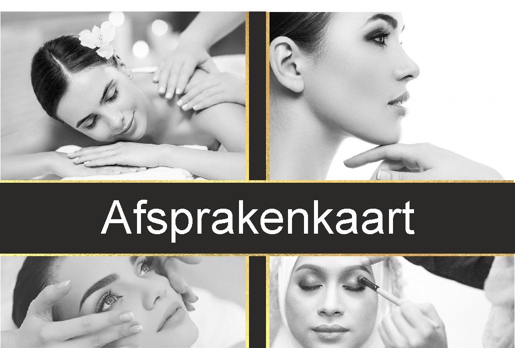 Art Nr 85325 Afspraakkaartjes inhoud: 50 stuks zwart/goud 2+1 gratis