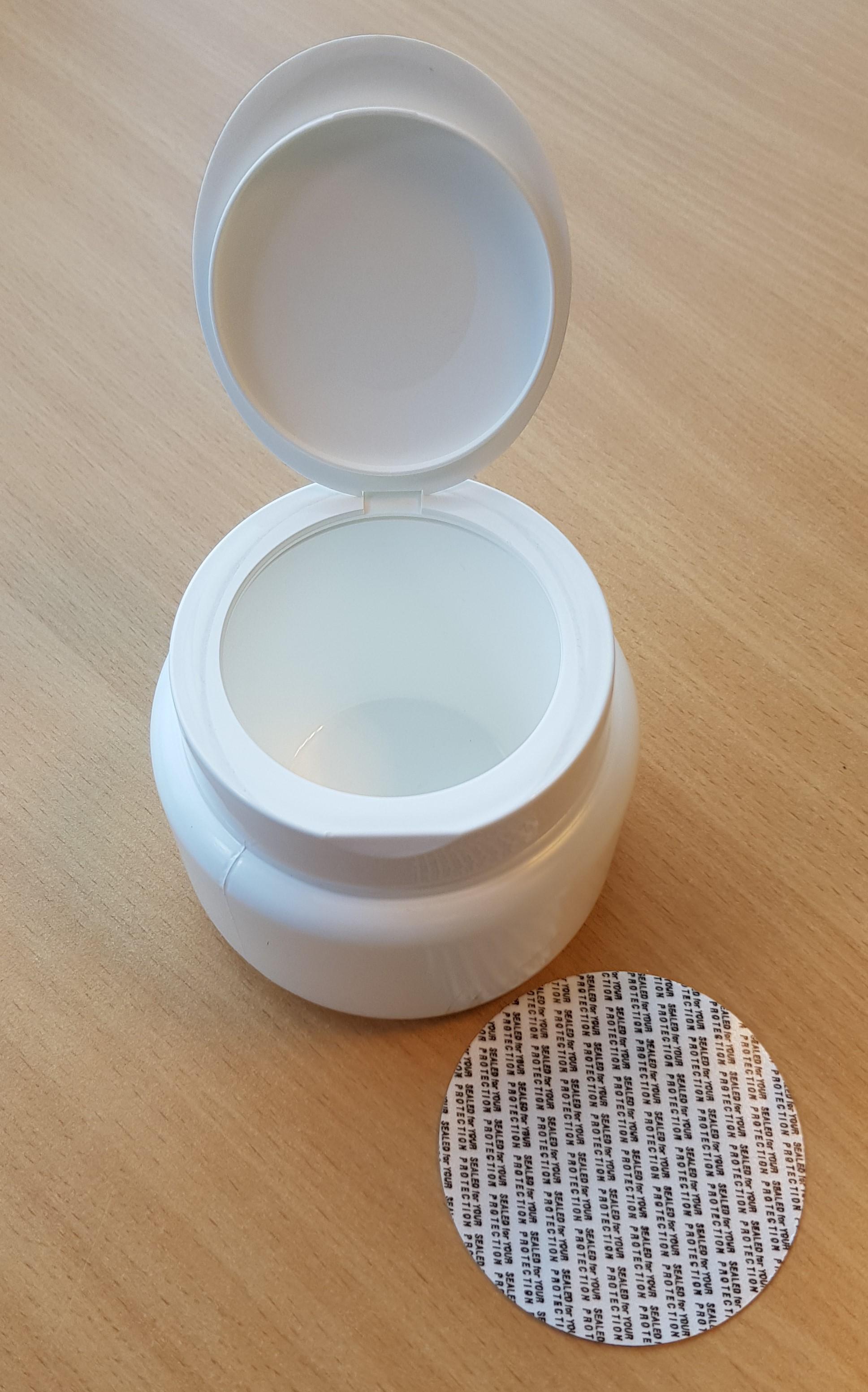 Salonpotten inhoud 250ml met led afsluiting en binnenpot met klep deksel